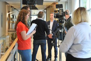 Interviews, set, camera, Medisch Centrum Leeuwarden